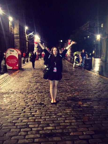 Final walk down the Mile on the 2014 Edinburgh Fringe Festival.